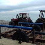 Boat tractors at Cromer
